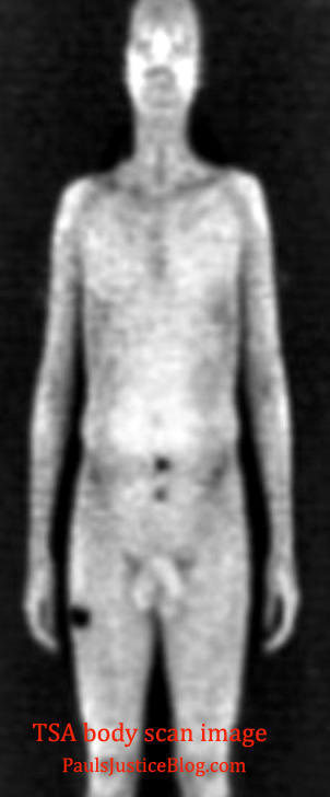 TSA body scan image - front only