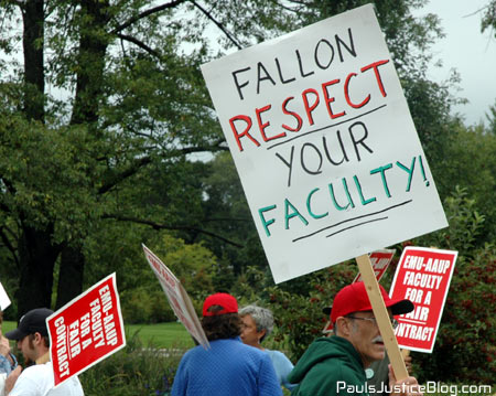 president fallon - respect faculty!!