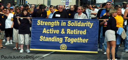 strength in solidarity - detroit labor day parade