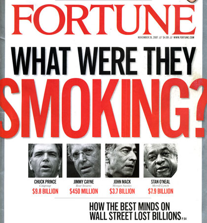 "Fortune Magazine cover - ""What Were They Smoking"""